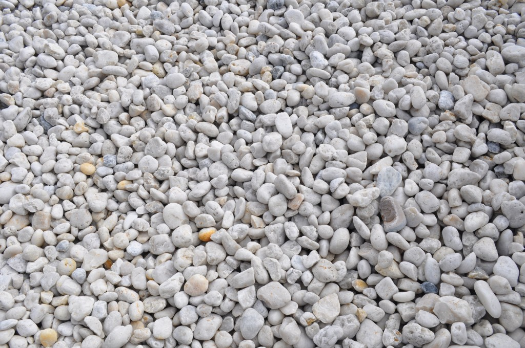 White cowra pebbles parklea sand and soil for White pebbles for landscaping